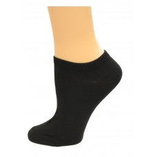 K. Bell Basic No Show Socks, Black, Sock Size 9-11/Shoe Size 4-10, 1 Pair