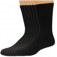 Lee Men's Full Cushioned Crew Socks 11 Pair, Black, Men's 6-12