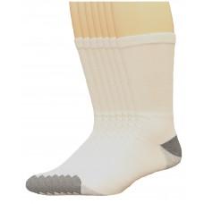 Lee Men's Big & Tall Crew Sport Socks 7 Pair, White, Men's 13-16
