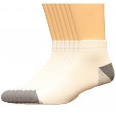 Lee Men's Big & Tall Low Cut Socks 7 Pair, White, Men's 13-16