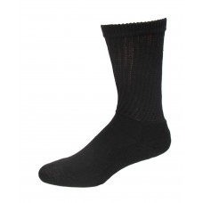 Medipeds Coolmax Cotton Half Cushion Crew Socks 2 Pair, Black, W7-10