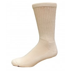 Medipeds Coolmax Cotton Half Cushion Crew Socks 2 Pair, White, M13-15