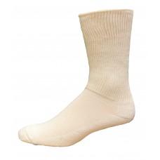 Medipeds Coolmax Cotton Half Cushion Extra Wide Crew Socks 2 Pair, White, W7-10