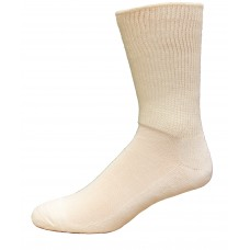 Medipeds Diabetic Wide Ribbed Crew Socks 1 Pair, White, W7-10