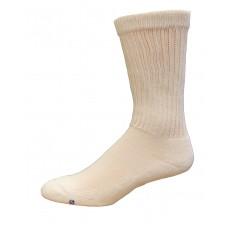 Medipeds Coolmax Cotton Half Cushion Crew Socks 2 Pair, White, W7-10