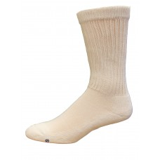 Medipeds Coolmax Cotton Half Cushion Crew Socks 2 Pair, White, M9-12