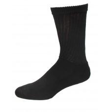 Medipeds Coolmax Cotton Half Cushion Crew Socks 2 Pair, Black, M9-12
