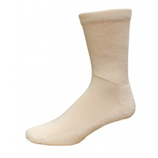 Medipeds Diabetic Extra Wide Crew Socks 4 Pair, White, W10-13 / M9-12
