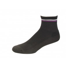 Medipeds Memory Cushion Ankle Socks 4 Pair, Black, W4-10