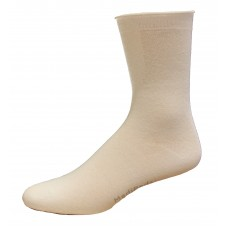 Medipeds Aloe Infused Roll Top Crew Socks 4 Pair, White, W7-10