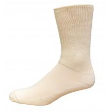 Medipeds Coolmax Cotton Half Cushion Extra Wide Crew Socks 2 Pair, White, M9-12