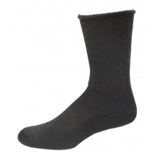 Medipeds Coolmax Cotton Half Cushion Extra Wide Crew Socks 2 Pair, Black, M9-12