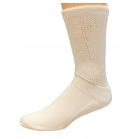 Medipeds Half Cushion Heavy Seamless Socks 1 Pair, White, W4-10