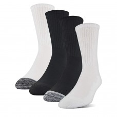 Medipeds Cushion Crew Socks 4 Pair, Black Marl / White Marl, M9-12