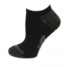 New Balance Strategic Cushion Running No Show Socks, Black, (S) Ladies 4-6, 3 Pair