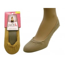 Peds Low Cut Smooth Sole, Nude, 2 Pr. (0760LL-NUDE)
