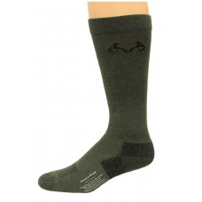 RealTree Insect Shield Over the Calf Socks, 1 Pair, Large (W 9-12 / M 9-13), Olive