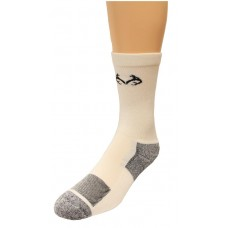 RealTree Insect Shield Crew Socks, 1 Pair, Medium (W 6-9 / M 4-9), White