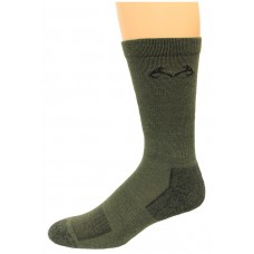 RealTree Insect Shield Crew Socks, 1 Pair, Large (W 9-12 / M 9-13), Olive