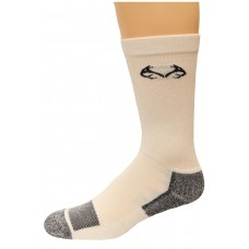 RealTree Insect Shield Crew Socks, 1 Pair, Large (W 9-12 / M 9-13), White