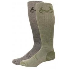 RealTree Elimishield Tall Boot Socks, 2 Pair, Large (M 9-13), Assorted