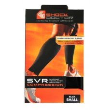 SVR Recovery Compression Calf Sleeve, Shock Black, Small