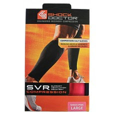 SVR Recovery Compression Calf Sleeve, Shock Pink, Large