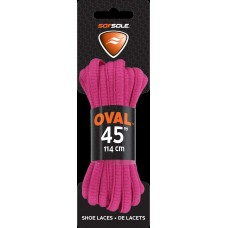 Sof Sole Athletic Oval Shoe Lace (Fuchsia, 45-Inch)