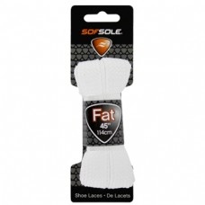 Sof Sole Athletic Fat Shoe Lace (White, 45-Inch)