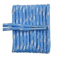 FeetPeople High Quality Round Laces For Boots And Shoes, Carolina Blue With White Chip