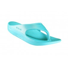 Telic Flip Flop Arch Supportive Recovery Sandal Unisex, Aqua