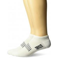 Top Flite Comfort No Show Socks, White, (L) W 9-12 / M 9-13, 2 Pair