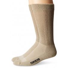 Top Flite Non-Binding Ultra-Dri Crew Socks, Khaki, (L) W 9-12 / M 9-13, 2 Pair