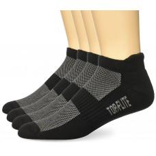 Top Flite Cotton Tab Socks, Black, (L) W 9-12 / M 9-13, 2 Pair