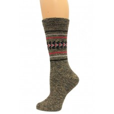 Wise Blend Aztec Crew Socks, 1 Pair, Black, Medium, Shoe Size W 6-9