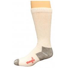 Riggs by Wrangler Men's Steel Toe Boot Sock 2 Pair, White, M 8.5-10.5