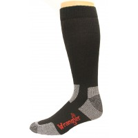 Wrangler Steel Toe Boot Sock 2 Pack, Black, W 10-12 / M 8.5-10.5