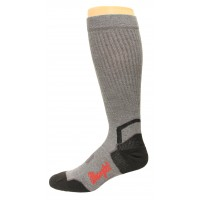Wrangler Men's Compression Technology Tall Boot Sock 1 Pair, Grey, M 8.5-10.5