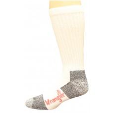Riggs by Wrangler Medium Weight Cotton Work Sock 4 Pair, White, M 8.5-10.5